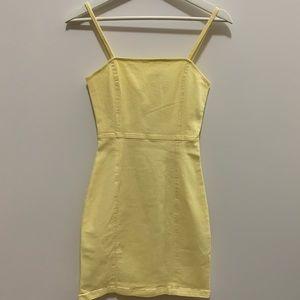 H&M Pastel Yellow Denim Mini Dress